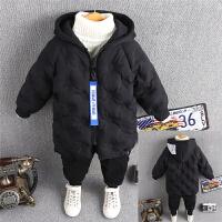 儿童棉衣宝宝冬装外套男童棉袄羽绒冬季中长款加厚潮