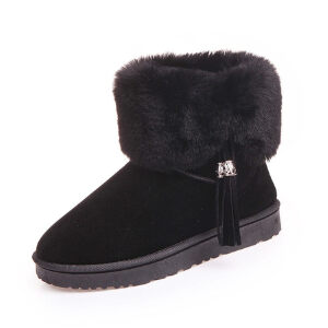 WARORWAR新品YM12-890冬季韩版平底舒适女士雪地靴