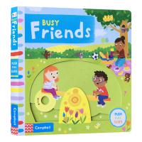 忙碌的朋友 英文原版 Busy Friends 幼儿英语人际交往情商培养绘本 趣味知识玩具书纸板书 Busy系列 机关