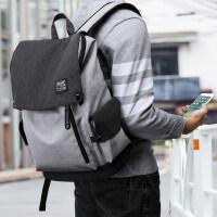 韩版大学生初中生书包 时尚潮流男高中学生双肩包帆布休闲旅行背包