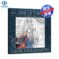 现货权力的游戏涂色书 英文原版 A Game of Thrones Colouring Book 冰与火之歌小说涂色本解