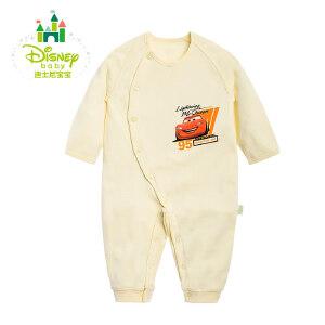 【卷后139元3件】迪士尼Disney 婴幼儿爬服纯棉哈衣侧开口宝宝连体衣153L659