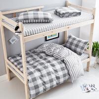 ???纯棉床单三件套学生宿舍单人被套 0.9m学校上下铺1米床上三件套秋