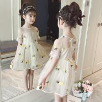 儿童连衣裙女童夏装新款洋气童装裙子女孩蓬蓬纱公主裙夏季女