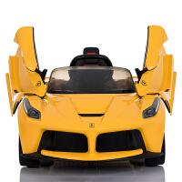 法拉利儿童电动车四轮遥控小孩童车宝宝玩具汽车可坐人蝶翼门跑车