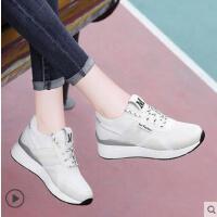 内增高运动鞋女鞋透气轻便百搭2018春季新款韩版夏季休闲鞋跑步鞋