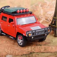 热卖 仿真合金悍马皮卡合金车模型 儿童声光回力越野玩具汽车