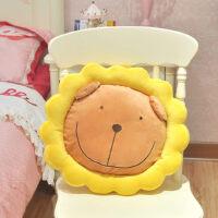 抱枕可爱太阳花狮子抱枕靠垫 家居实用毛绒玩具椅子坐垫礼物居家