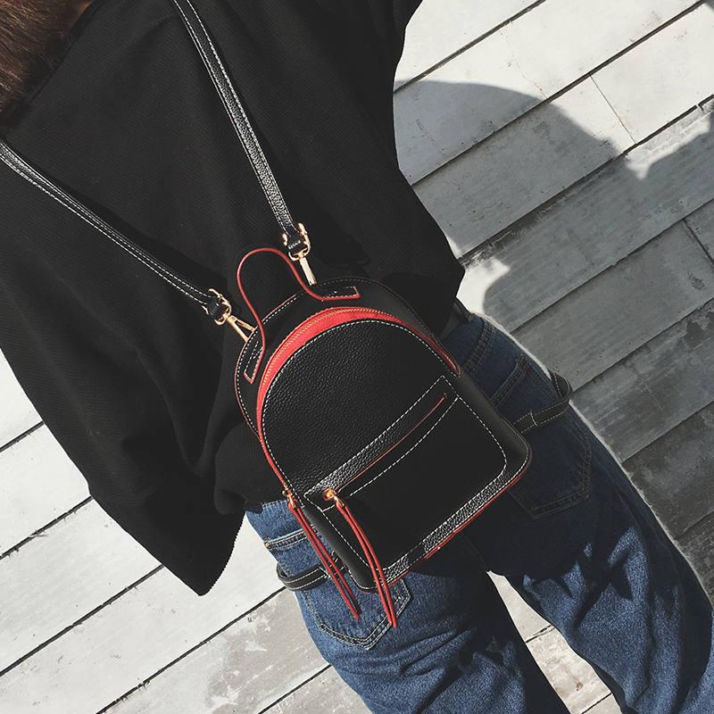 迷你双肩包女英伦风学院纯色简约定型小背包韩国书包小包 发货周期:一般在付款后2-90天左右发货,具体发货时间请以与客服协商的时间为准