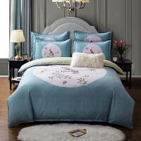 四件套全棉纯棉简约床单被套床上用品1.8m2.0m床上四件套夏季