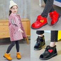 冬季男孩子马丁靴加绒毛皮鞋1防水2保暖短靴3儿童4女童鞋5棉鞋6岁