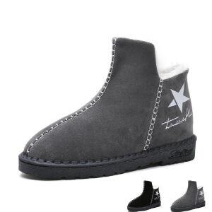 WARORWAR新品YM159-E895-4冬季休闲平底舒适女士雪地靴