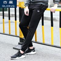 秋季古星新款运动裤男宽松潮流休闲裤青年拉链口袋百搭长裤