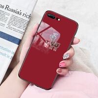iphone8plus手机壳苹果7p套玻璃A1661有趣品果8puls文字iPhine8p情侣i硬壳