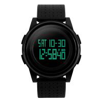 手表男士运动休闲超薄夜光学生电子腕表 1206黑色 军表 军迷手表
