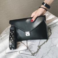 手拿包女包2018新款潮时尚气质手包链条单肩斜挎包休闲信封包小包