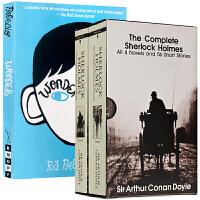 福尔摩斯探案全集 Sherlock Holmes 英文原版侦探悬疑推理畅销小说书籍+奇迹男孩 Wonder 英文版原版