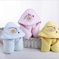 婴儿抱被秋冬加厚纯棉初生宝宝被子襁褓新生儿包被5gd