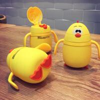 儿童家用宝宝水杯带吸管喝水杯子杯幼儿园婴儿保温杯防摔可爱卡通