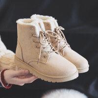 冬季加绒加厚雪地靴女短靴韩版百搭棉鞋学生短筒马丁靴女靴子