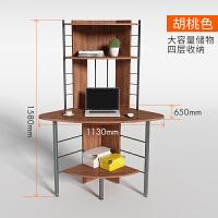 简约转角桌 韩式电脑桌 书柜书架组合书桌 墙角三角位台式桌