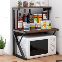 厨房置物架台面多层收纳架用品家用大全调料架碗架微波炉烤箱架子