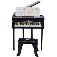 木质儿童玩具钢琴宝宝小钢琴送教材 早教乐器30键迷你弯腿翻盖