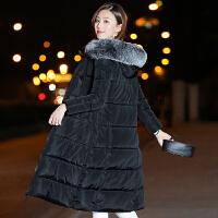 棉衣女中长款外套韩版修身过膝加厚羽绒大码显瘦棉袄