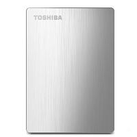 东芝(TOSHIBA)1TB 移动硬盘 Canvio slim系列 1TB 2.5英寸金属加密硬盘 USB3.0硬盘 送
