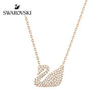 SWAROVSKI/施华洛世奇 SWAN玫瑰金色天鹅项链 5121597(小号)