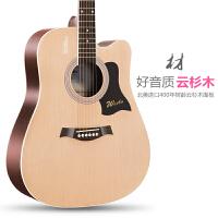 40寸41寸乐器单板民谣吉他初学者学生女男新手入门练习木吉他