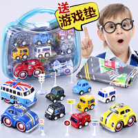 惯性消防火车迷你合金回力小汽车耐摔宝宝儿童玩具男孩2-3-4-5岁