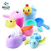 儿童洗澡戏水玩具婴儿花洒软胶喷壶宝宝沐浴小黄鸭洗头发杯男女孩