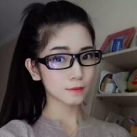 2018新品防护目镜电脑眼镜女清晰手机蓝光眼镜男复古眼镜轻平光镜 亮黑蓝膜 送一副备注