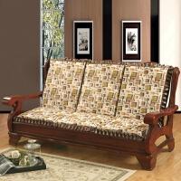 加厚实木沙发坐垫 联邦椅带靠背沙发垫子电脑椅垫带后背 金色 格调