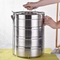 不锈钢双层保温饭盒桶2/3/4/5多层便当饭菜餐盒超大容量食格提锅
