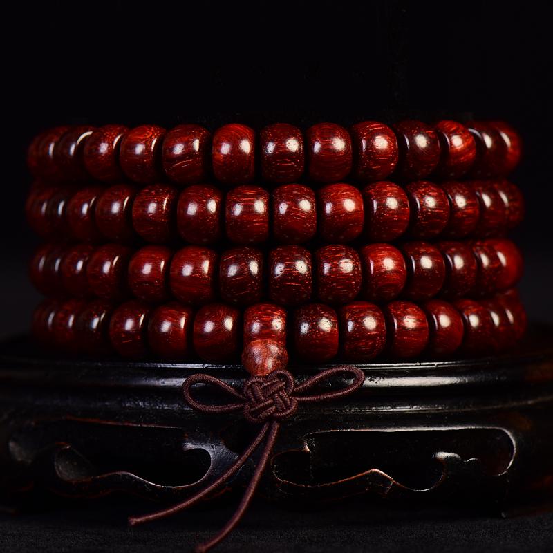 小叶紫檀苹果珠手链7x9mm 35克  C-269