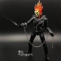 9寸恶灵骑士骷髅摩托战车模型 X战警可动人偶手办玩具 漫威MARVEL