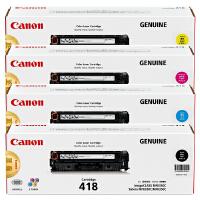 佳能原装正品 CRG-418硒鼓 418墨粉盒 BK黑色 C青色 M品红色 Y黄色 佳能Canon iC MF8350c