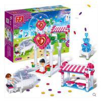 【小颗粒】女孩礼品 邦宝塑料积木拼插益智儿童玩具 幸福之门6106