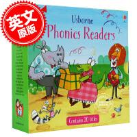 [现货]自然拼读套装 英文原版 Phonics Readers Boxset 儿童英语故事 Usborne 小气球阅读系列 绘本故事 进口