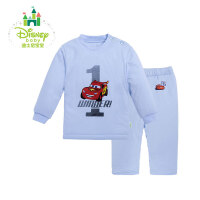 迪士尼(Disney)童装宝宝素色肩开棉套装 婴儿冬季夹棉外出服154T634