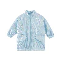 【1件4折价:115.6】moomoo童装女童外套春季爱丽丝风衣女中童外套
