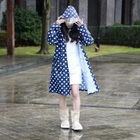 家居生活用品雨衣女款韩版时尚徒步雨披户外单人外套衣加大连身小清新