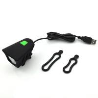 自行车灯 强光夜骑行USB充电死飞单车配件T6超亮山地车前灯防雨水