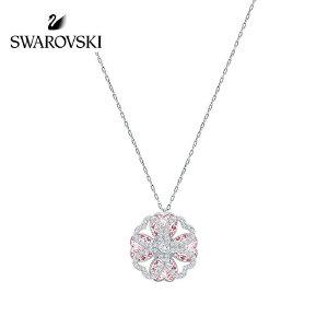 SWAROVSKI/施华洛世奇 DEARY淡紫色心形四叶草项链 5190617