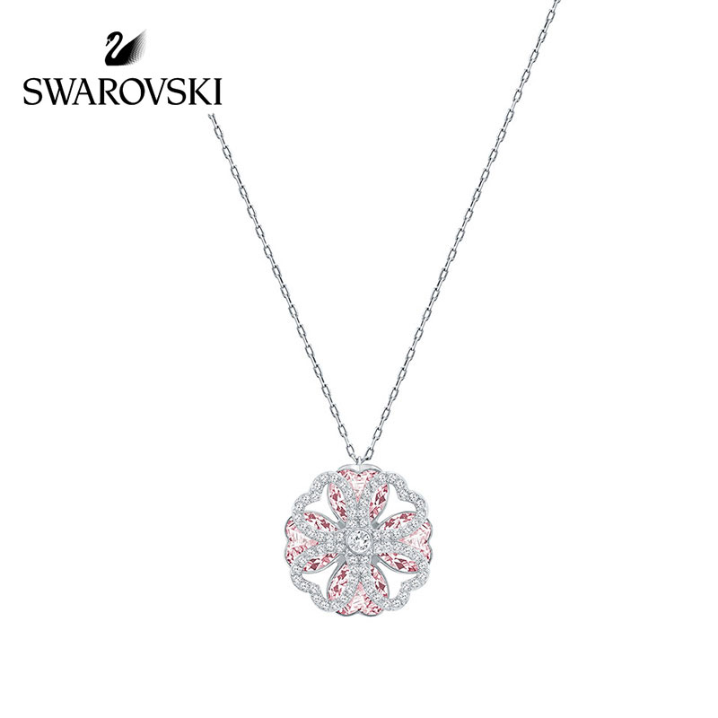 SWAROVSKI/施华洛世奇 DEARY淡紫色心形四叶草项链 5190617正品保障(可使用礼品卡)