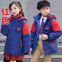 幼儿园园服冬装小学生校服英伦风儿童班服冬季运动会加厚棉衣外套