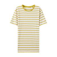 【1件2.5折到手价:58.8】MECITY男装夏季撞色亚麻条纹针织短袖T恤男士潮流打底衫男