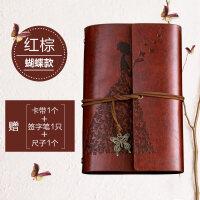 复古牛皮纸记事本小随身韩国创意日记本手账本a6活页笔记本子文具
